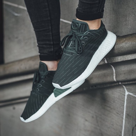 new styles f67c6 8e11e Adidas NMD r2 utility green womens size 6.5